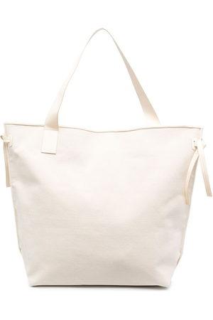 Aeron Square-shape tote bag - Neutrals