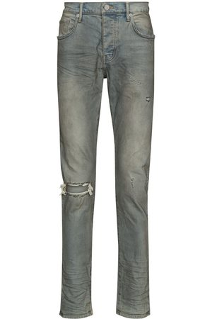 Purple Brand Men Slim - Distressed-look mid-rise jeans