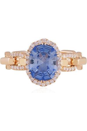O Thongthai 14kt sapphire diamond ring