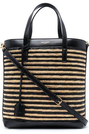 Saint Laurent Women Handbags - Raffia panelled tote bag