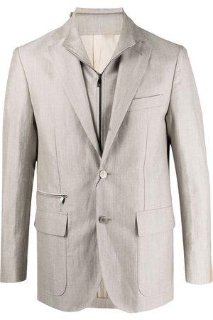 Corneliani Fitted single-breasted blazer - Neutrals