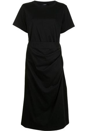 GOEN.J Cutout-back draped cotton dress