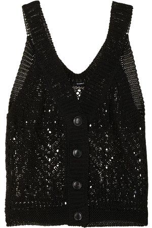 GOEN.J Buttoned crochet-knit vest