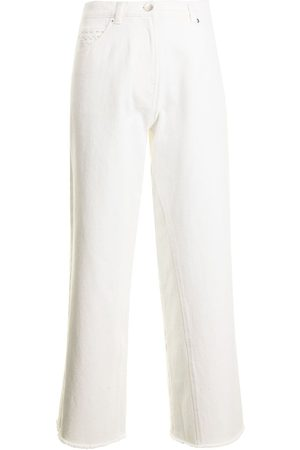GOEN.J High-rise wide-leg cropped jeans