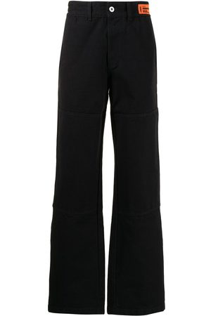 Heron Preston Logo-patch straight-leg jeans