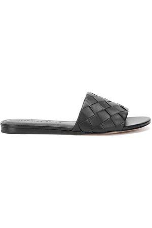 Veronica Beard Senta woven leather slides