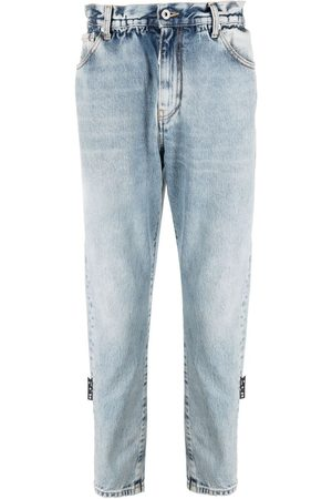 Off-White Men Slim - Slim-fit belted jeans