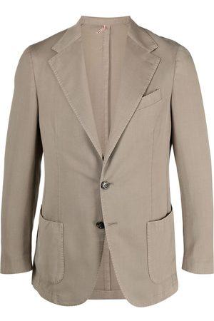 Dell'oglio Fitted single-breasted blazer - Neutrals
