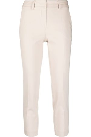 BLANCA Cropped skinny-fit trousers - Neutrals
