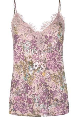 Gold Hawk Women Singlets - Floral-print camisole