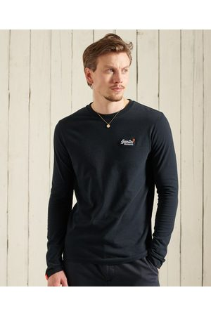 Superdry Men Long Sleeve - Organic Cotton Vintage Embroidery T-Shirt