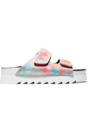 Timberland Santa monica sunrise slide sandal for women in tie dye men, size 5
