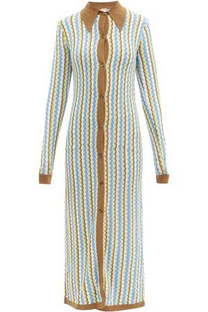 DODO BAR OR Women Maxi Dresses - Keshia Zigzag-knitted Maxi Dress - Womens - Multi
