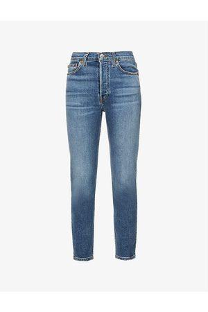 RE/DONE Women Skinny - 90s skinny straight-leg high-rise jeans