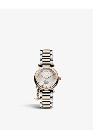 Vivienne Westwood Watches Women Watches - VV006SLRS Orb Diamond stainless-steel and 0.005ct diamond quartz watch