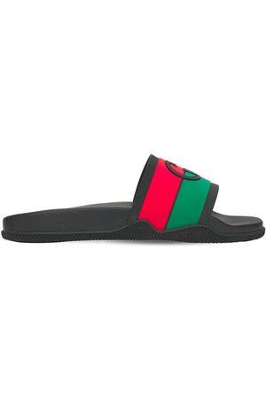 Gucci Interlocking G Rubber Slide Sandals