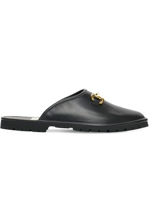Gucci Men Slippers - Horsebit Leather Slippers
