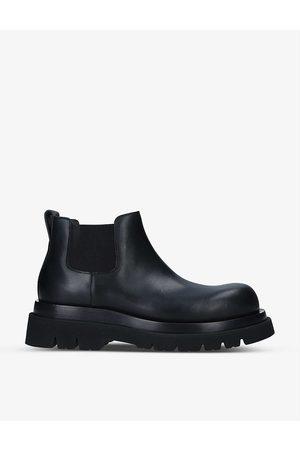 Bottega Veneta Women Ankle Boots - Lug elasticated-side leather ankle boots