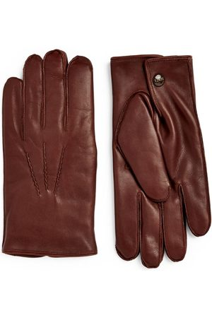 Dents Rabbit-Fur Leather Gloves