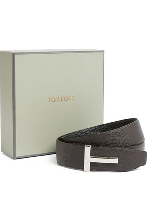 Tom Ford Leather T-Clasp Belt