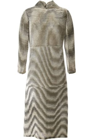 Issey Miyake Pre-Owned Ripple pleat velvet dress