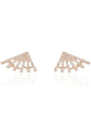 Dana Rebecca Designs Women Earrings - 14kt rose Sarah Leah six burst diamond earrings