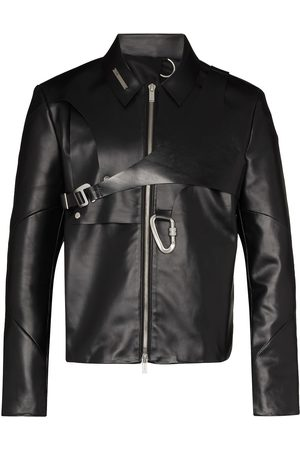 HELIOT EMIL Harness zip-up leather jacket