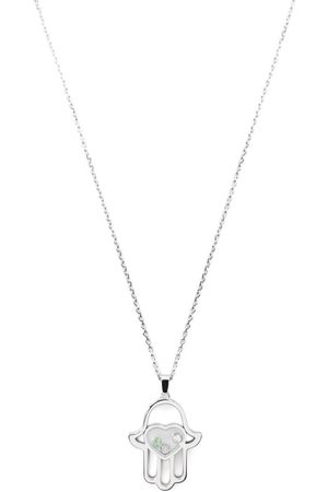 Chopard 18kt white gold diamond Good Luck Charms necklace