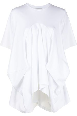 GOEN.J Asymmetric draped T-shirt
