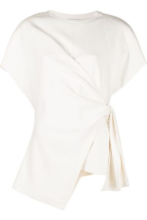 GOEN.J French-sleeve knotted-detail top
