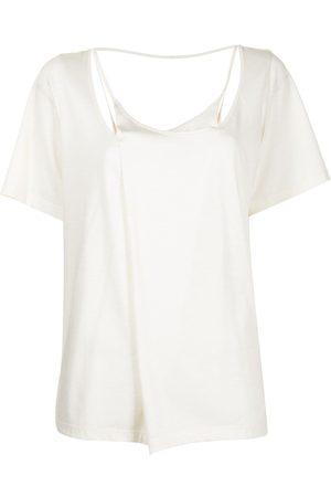 GOEN.J Layered cotton-modal blend top - Neutrals