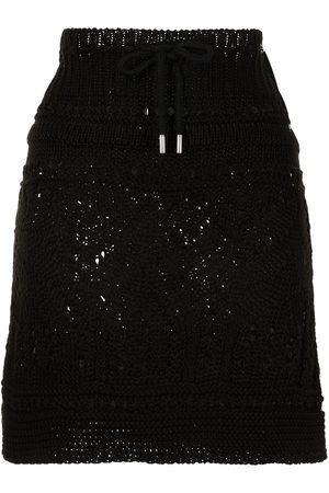 GOEN.J Ribbed crochet-knit mini skirt