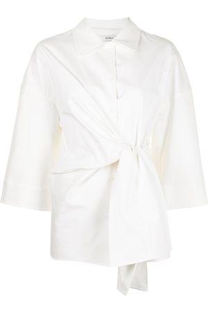 Goen.J Oversized-knot detail shirt