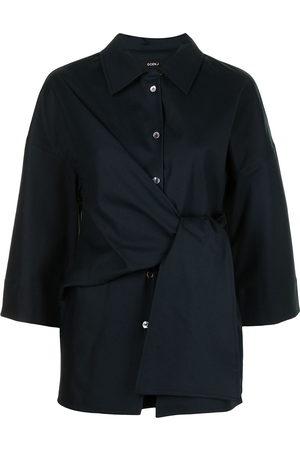 GOEN.J Tie-waist longline shirt