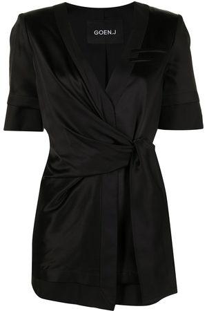 GOEN.J Inside-out short wrap-blazer