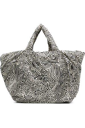 10 CORSO COMO Pouffy floral-print tote bag - Neutrals