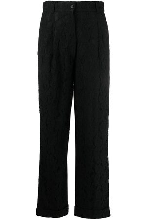 Dolce & Gabbana 1990s floral lace tailored trousers