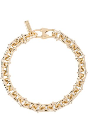 Prada Women Necklaces - Studded chunky chain link necklace