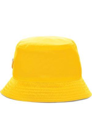 Prada Men Hats - Re-Nylon triangle logo bucket hat