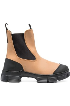 Ganni Two-tone Chelsea boots