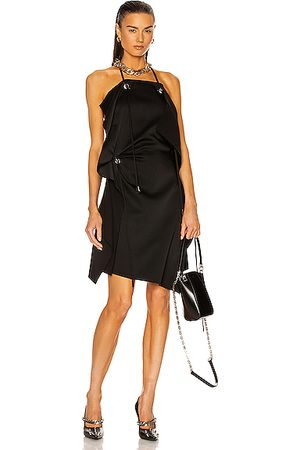 Givenchy Asymmetrical Short Draped Dress in