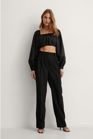 NA-KD Pleat Suit Pants - Black
