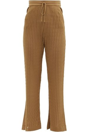 DODO BAR OR Gail Flared Eyelet-striped Trousers - Womens