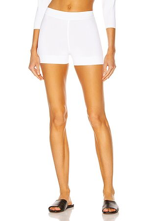 Alaïa Biker Short in Blanc