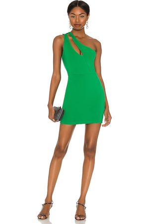superdown Nava Asymmetrical Mini Dress in . Size XXS, XS, S, M, XL.