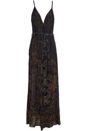CAMILLA Women Maxi Dresses - Woman Belted Printed Silk Crepe De Chine Maxi Dress Size S