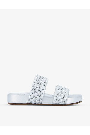 Dune Women Sandals - Laylow double woven-strap leather sliders