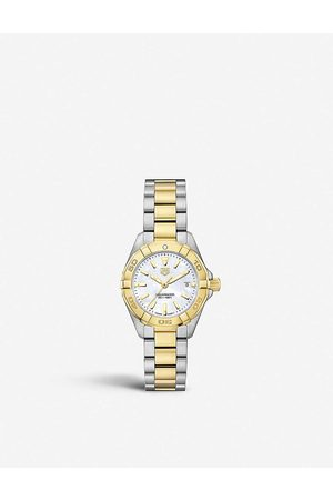 Tag Heuer Women Watches - WBD1420.BB0321 Aquaracer mother-of-pearl and stainless steel quartz watch