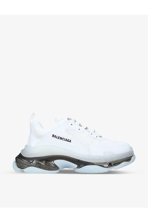 Balenciaga Men Trainers - Men's Triple S Clear Sole faux-leather and mesh trainers