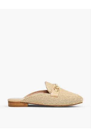 Dune Glowin snaffle trim backless loafers